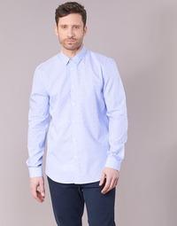 Oblačila Moški Srajce z dolgimi rokavi Sisley KELAPSET Modra / Svetla