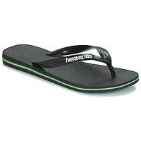 Čevlji  Japonke Havaianas BRAZIL LOGO Črna