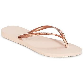 Čevlji  Ženske Japonke Havaianas SLIM Rožnata / Pozlačena