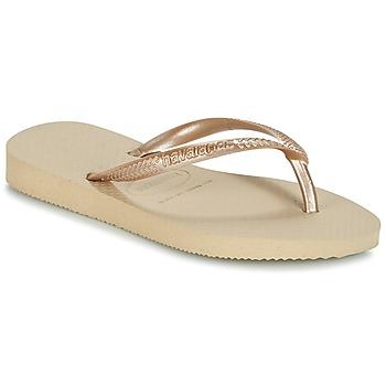 Čevlji  Deklice Japonke Havaianas SLIM Bež