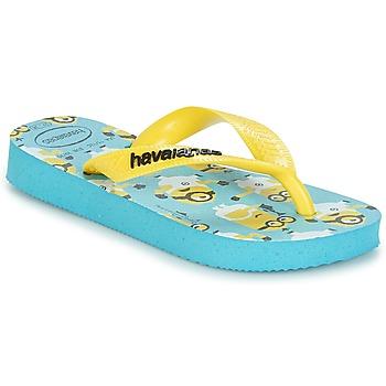 Čevlji  Dečki Japonke Havaianas MINIONS Modra / Rumena