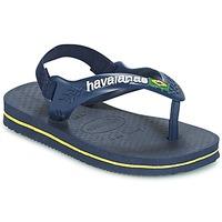 Čevlji  Dečki Japonke Havaianas BABY BRASIL LOGO Rumena