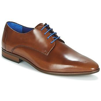 Čevlji  Moški Čevlji Derby Azzaro VALMI Cognac