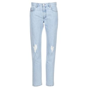 Oblačila Ženske Jeans straight Diesel NEEKHOL Modra
