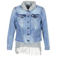 Oblačila Ženske Jeans jakne Maison Scotch XAOUDE Modra / Svetla / Siva
