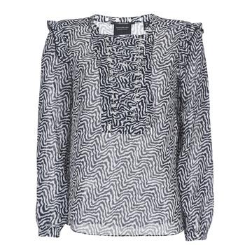 Oblačila Ženske Topi & Bluze Maison Scotch OLZAKD Črna / Bela