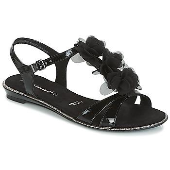 Čevlji  Ženske Sandali & Odprti čevlji Tamaris GACAPI Črna