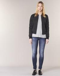 Oblačila Ženske Jeans skinny G-Star Raw D-STAQ 5 PKT MID SKINNY Vintage / Restored