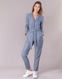 Oblačila Ženske Kombinezoni G-Star Raw DELINE JUMPSUIT WMN L/S Modra / Bela