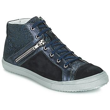 Čevlji  Deklice Visoke superge GBB KAMI Črna / Modra