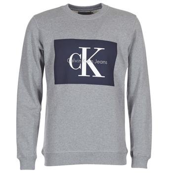 Oblačila Moški Puloverji Calvin Klein Jeans HOTORO REGULAR Siva