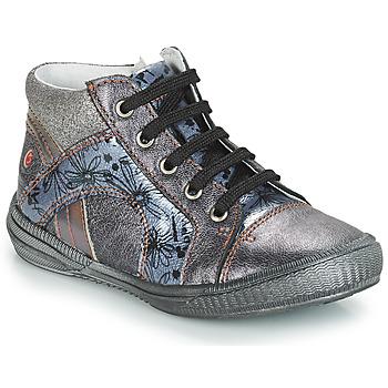 Čevlji  Deklice Visoke superge GBB ROSETTA Siva / Modra