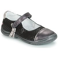 Čevlji  Deklice Balerinke GBB RIKA Siva / Črna