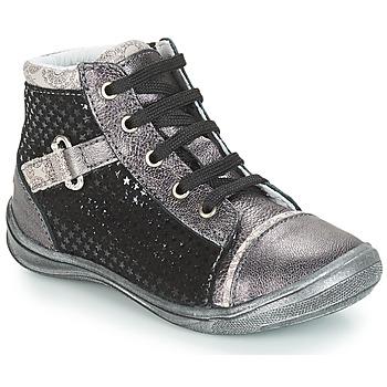 Čevlji  Deklice Visoke superge GBB ROMIE Črna / Siva