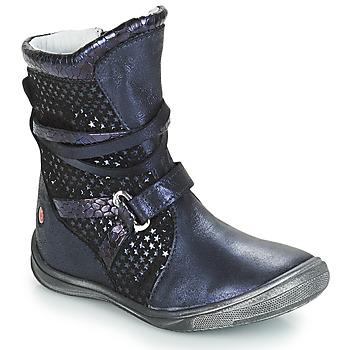 Čevlji  Deklice Mestni škornji    GBB ROSANA Modra