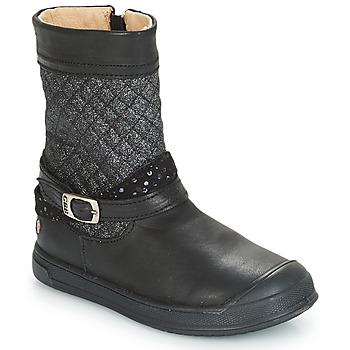 Čevlji  Deklice Mestni škornji    GBB ROLANDE Črna