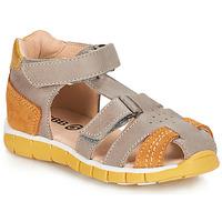 Čevlji  Dečki Sandali & Odprti čevlji GBB SPARTACO Siva / Oranžna