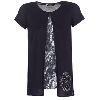 Oblačila Ženske Majice s kratkimi rokavi Desigual NUTILAD Črna