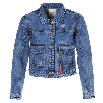 Oblačila Ženske Jeans jakne Kaporal BUCHE Modra