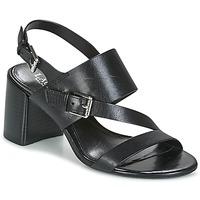Čevlji  Ženske Sandali & Odprti čevlji Lauren Ralph Lauren FLORIN Črna