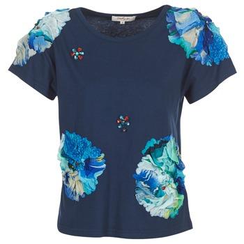 Oblačila Ženske Majice s kratkimi rokavi Derhy BANGKOK Modra