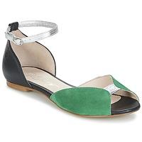 Čevlji  Ženske Sandali & Odprti čevlji Betty London INALI Črna / Srebrna / Zelena
