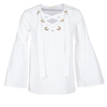 Oblačila Ženske Topi & Bluze MICHAEL Michael Kors POPLIN GRMT LCE UP T. Bela