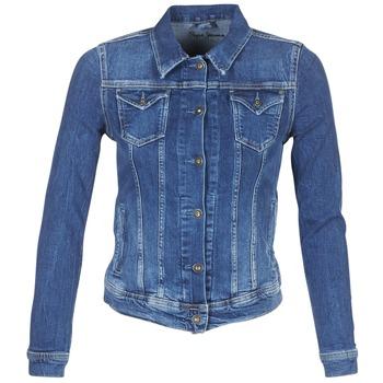 Oblačila Ženske Jeans jakne Pepe jeans THRIFT Modra