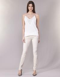 Oblačila Ženske Hlače s 5 žepi Freeman T.Porter ALEXA SLIM MAGIC COLOR Rožnata