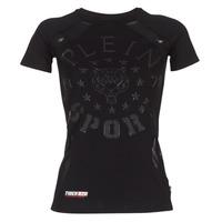 Oblačila Ženske Majice s kratkimi rokavi Philipp Plein Sport FORMA LINEA Črna
