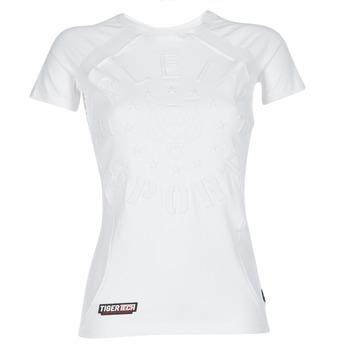 Oblačila Ženske Majice s kratkimi rokavi Philipp Plein Sport FORMA LINEA Bela / Bela