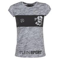 Oblačila Ženske Majice s kratkimi rokavi Philipp Plein Sport THINK WHAT U WANT Siva