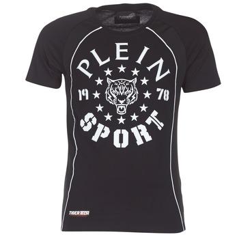 Oblačila Moški Majice s kratkimi rokavi Philipp Plein Sport LIONEL Črna / Bela