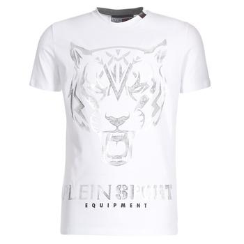 Oblačila Moški Majice s kratkimi rokavi Philipp Plein Sport EDBERG Bela / Srebrna