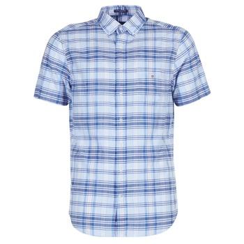 Oblačila Moški Srajce s kratkimi rokavi Gant BLUE PACK MADRAS REG Modra