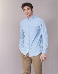 Oblačila Moški Srajce z dolgimi rokavi Gant THE INDIGO REG Modra