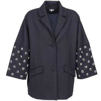 Oblačila Ženske Plašči Manoush CABOCHON Modra