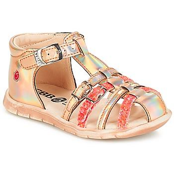 Čevlji  Deklice Sandali & Odprti čevlji GBB PERLE Tts / Rožnata / Metal-fluo / Dpf / Nemo