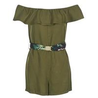 Oblačila Ženske Kratke obleke Guess RESPUNNI Kaki