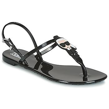 Čevlji  Ženske Sandali & Odprti čevlji Karl Lagerfeld JELLY KARL ICONIK Črna