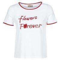 Oblačila Ženske Majice s kratkimi rokavi Betty London INNATIMBI Bela / Rdeča