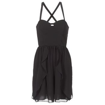 Oblačila Ženske Kratke obleke Naf Naf LENY R1 Črna