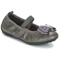 Čevlji  Deklice Balerinke Geox J PIUMA BALLERINES Siva
