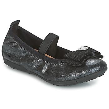 Čevlji  Deklice Balerinke Geox J PIUMA BALLERINES Črna