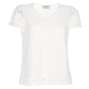 Oblačila Ženske Topi & Bluze Betty London I-LOVI Bela