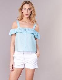 Oblačila Ženske Topi & Bluze Moony Mood IFARANDOL Modra