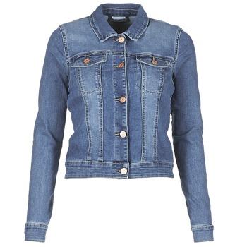 Oblačila Ženske Jeans jakne Noisy May NMDEBRA Modra