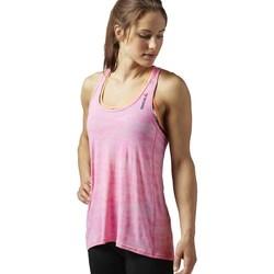 Oblačila Ženske Majice brez rokavov Reebok Sport OS BO Breeze Tank Roza