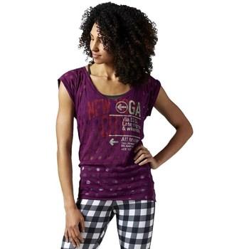 Oblačila Ženske Majice s kratkimi rokavi Reebok Sport Yoga New York Vijolična