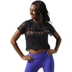 Oblačila Ženske Majice s kratkimi rokavi Reebok Sport Cardio Tee Črna
